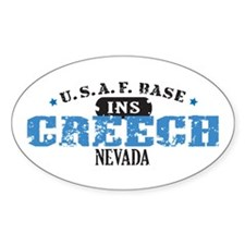 Creech Air Force Base Oval Decal