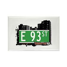 E 93 STREET, MANHATTAN, NYC Rectangle Magnet