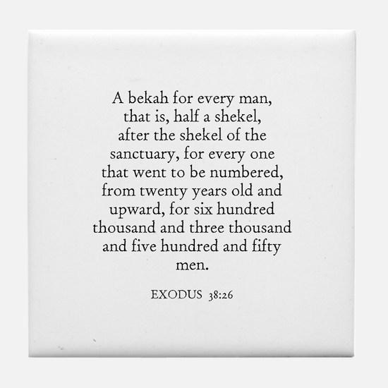 EXODUS  38:26 Tile Coaster