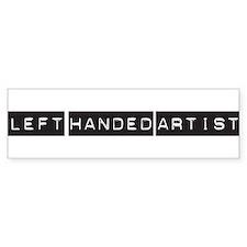 Left handed artist Bumper Bumper Sticker