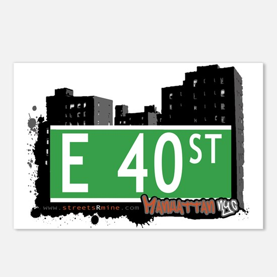 E 40 STREET, MANHATTAN, NYC Postcards (Package of