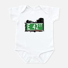 E 42 STREET, MANHATTAN, NYC Infant Bodysuit