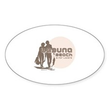 Laguna Beach is for lovers ~ Oval Decal