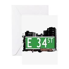 E 34 STREET, MANHATTAN, NYC Greeting Card