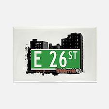 E 26 STREET, MANHATTAN, NYC Rectangle Magnet