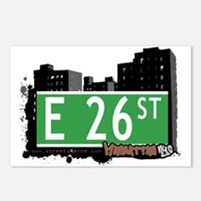 E 26 STREET, MANHATTAN, NYC Postcards (Package of