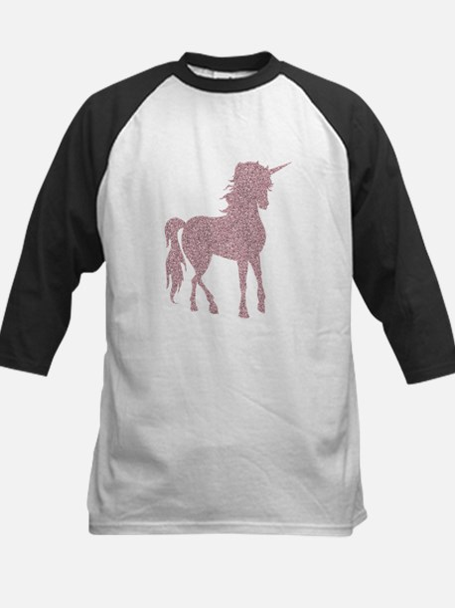 Pink Unicorn Kids Baseball Jersey
