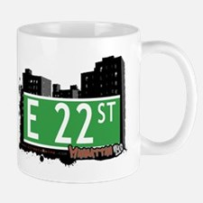 E 22 STREET, MANHATTAN, NYC Mug