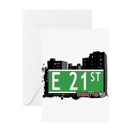 E 21 STREET, MANHATTAN, NYC Greeting Card