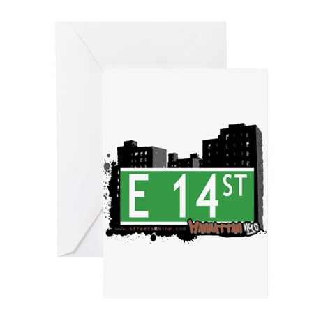 E 14 STREET, MANHATTAN, NYC Greeting Cards (Pk of