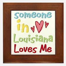 Someone in Louisiana Loves Me Framed Tile