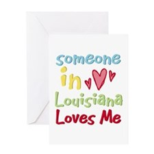 Someone in Louisiana Loves Me Greeting Card
