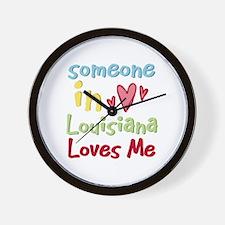Someone in Louisiana Loves Me Wall Clock