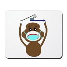 Sock Monkey Occupations Mousepad
