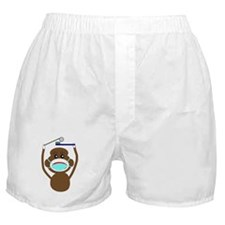 Sock Monkey Occupations Boxer Shorts