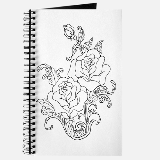 Duo of Roses Color Your Own Journal