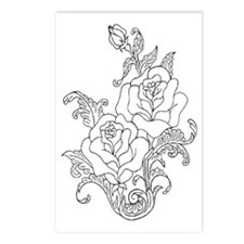 Duo of Roses Color Your Own Postcards (Package of