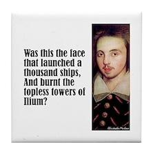 "Marlowe ""The Face"" Tile Coaster"