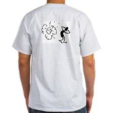Da Bomb Back View  Ash Grey T-Shirt