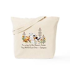 Pythagoras Vegetarian Quote Tote Bag
