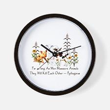 Pythagoras Vegetarian Quote Wall Clock