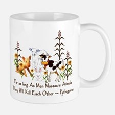 Pythagoras Vegetarian Quote Mug