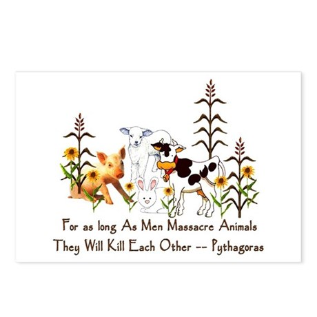 Pythagoras Vegetarian Quote Postcards (Package of