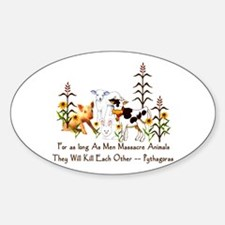 Pythagoras Vegetarian Quote Decal