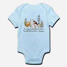 Pythagoras Vegetarian Quote Infant Bodysuit
