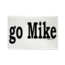 go Mike Rectangle Magnet