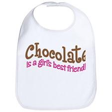 CHOCOLATE IS GIRL'S BEST FRIEND Bib