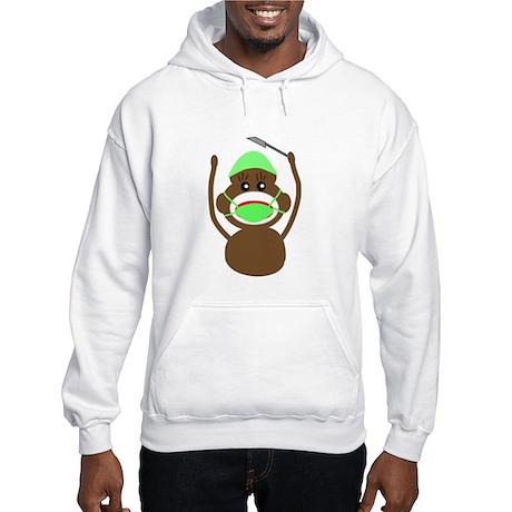 Sock Monkey Occupations Hooded Sweatshirt