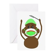 Sock Monkey Occupations Greeting Cards (Pk of 20)