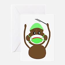 Sock Monkey Occupations Greeting Card