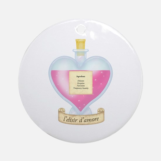 Delusional Love Potion Ornament (Round)