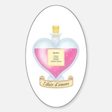Delusional Love Potion Oval Decal