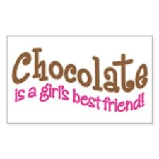 CHOCOLATE IS GIRL'S BEST FRIEND Stickers (10 Pack)
