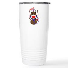 Nurse Sock Monkey Travel Mug