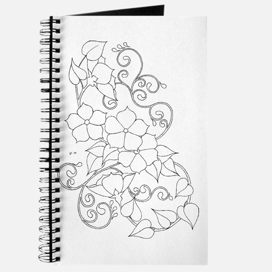 Star Flowers Color Your Own Journal
