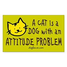 Attitude Problem Rectangle Decal