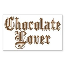 CHOCOLATE LOVER Rectangle Sticker 10 pk)