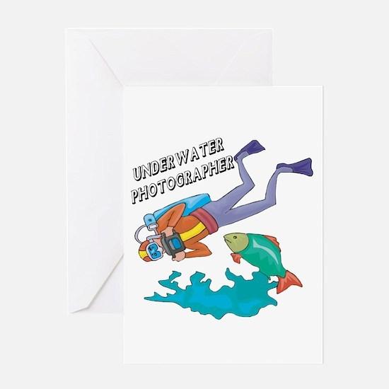 Underwater Photographer Greeting Card