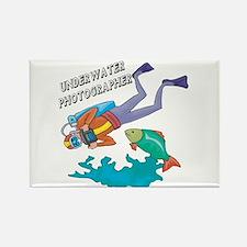 Underwater Photographer Rectangle Magnet