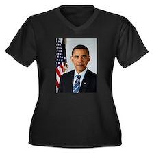Cool Michelle obama Women's Plus Size V-Neck Dark T-Shirt