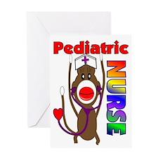 Nurse Sock Monkey Greeting Card