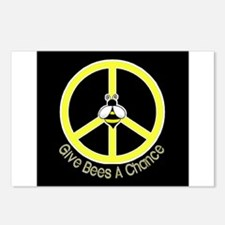 Give Bees A Chance Dark Postcards (Package of 8)
