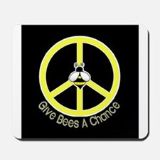 Give Bees A Chance Dark Mousepad