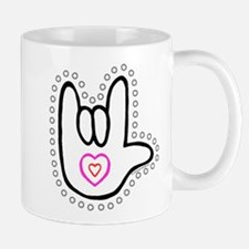 B/W Bold Love Hand Mug