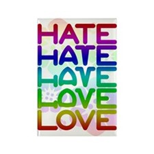 Hate2Love Rectangle Magnet