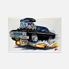 1964 Fury Black Car Rectangle Magnet